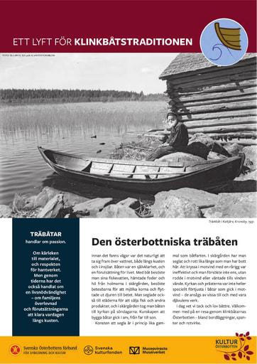 Klinkbåtstraditioner i Österbotten - KulturÖsterbottens skyltar