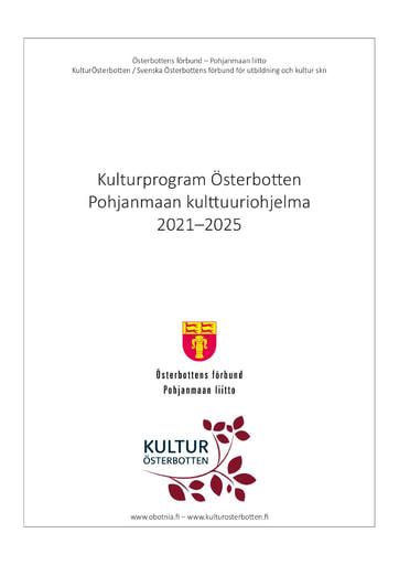 Kulturprogram Österbotten 2021–2025