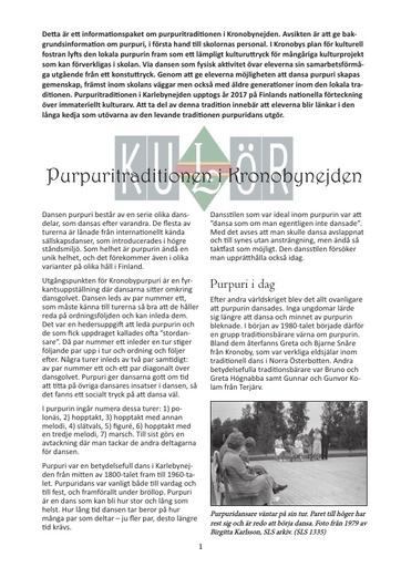 Purpuritradition, bakgrundsmaterial