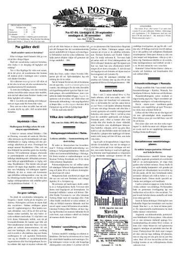 Wasa posten sammandrag 1917